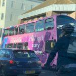 The Martin Fisher Bus out and about in town breaking down stigma